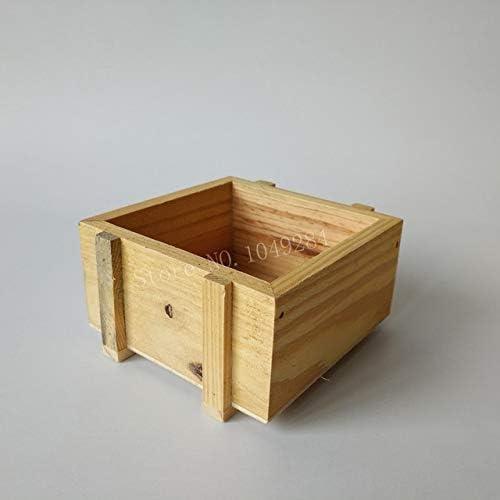 Caja de madera para macetas – 10 unidades/lote barato pequeño maceta de madera suculenta, maceta de madera, cajas de jardín: Amazon.es: Jardín