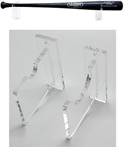 Top Stage Clear Acrylic Baseball Bat Rack Display Shelf Holder Wall Mount (Horizontal Wall Rack) (Bat Wall Display)
