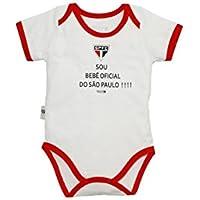 Rêve D'or Sport - Body Bebê Oficial São Paulo Unissex, G, Branco/Vermelho
