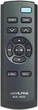 (Alpine RUE-4202 Wireless Palm-Size Audio Remote Control)