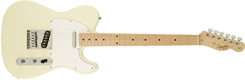 Squier by Fender Affinity Telecaster Beginner Electric Guitar – Maple Fingerboard, Arctic White
