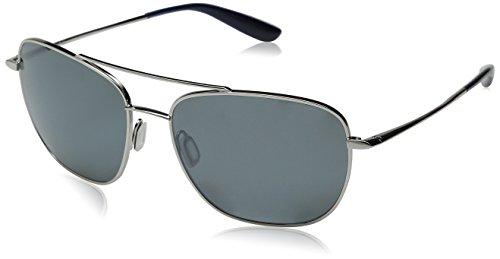 Kaenon Men's Miramar Polarized Rimless Sunglasses, Chrome, 56 mm