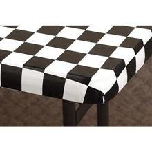 Hoffmaster Black and White Check Kwik Plastic Table Cover with Elastic Edge, 30 x 72 inch - Banquet Size 6 feet -- 25 per case. by Hoffmaster
