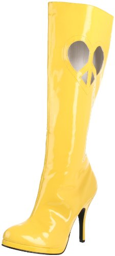 Funtasma by Pleaser Women's Love Knee-High Boot,Yellow Patent,12 M US