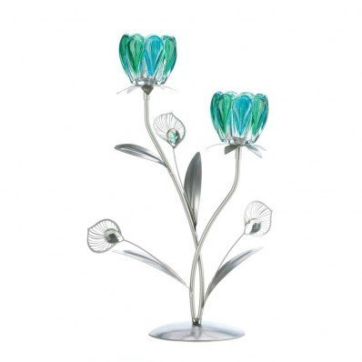 - Sunshine Megastore Double Peacock Bloom Candleholder