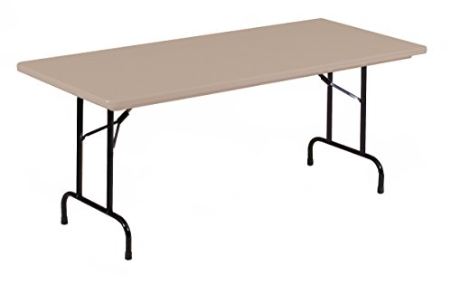 Correll R2448-24 R Series, Blow Molded Plastic Commercial Duty Folding Table, Rectangular, 24'' x 48'', Mocha Granite , Custom Built to Order in the USA by Correll