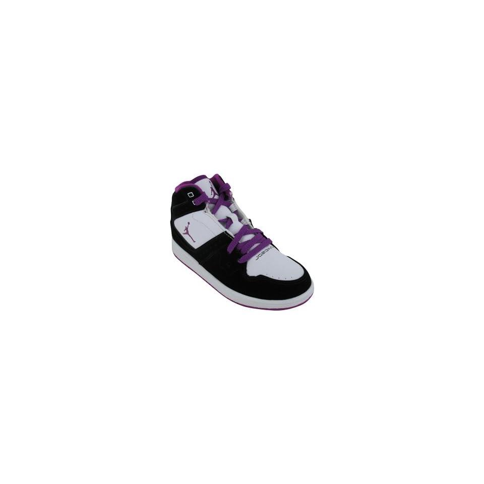 JORDAN 1 FLIGHT GIRLS BASKETBALL SHOES 1 (BLACK/RED PLUM WHITE) Shoes