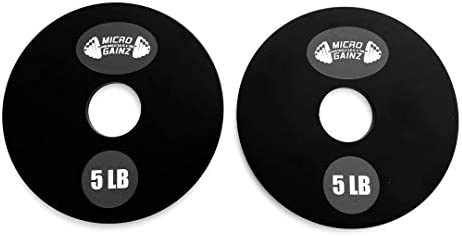 Micro Gainz 5LB Pair of Olympic Weight Plates- Designed for Olympic Barbells, Used for Strength Training and Micro Loading, Made in The USA