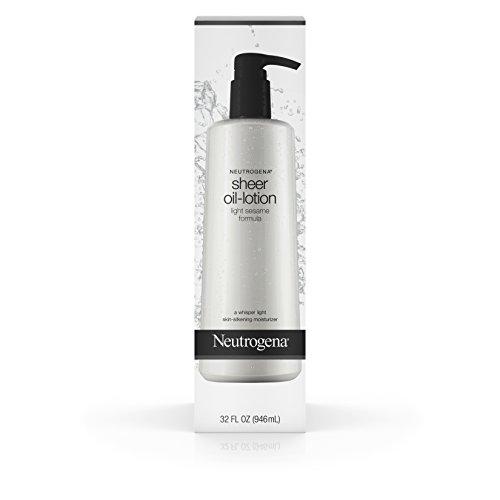 Neutrogena Body Sheer-Oil Lotion For Dry Skin , Light Sesame Formula, 32 Fl. Oz