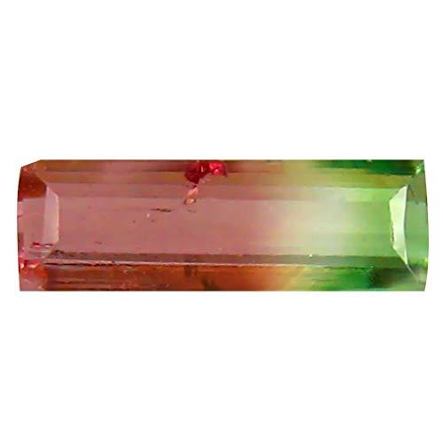0.54 ct OCTAGON (8 X 3 MM) BRAZILIAN BI-COLOR TOURMALINE LOOSE GEMSTONE Bi Color Tourmaline Gem