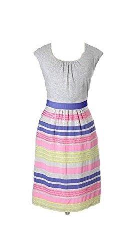 Dress Sequin Gray Striped Size BODEN US L 8 xFUpwg7