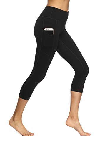 Fengbay High Waist Yoga Pants, Pocket Yoga Pants Tummy Control Workout Running 4 Way Stretch Yoga Leggings -