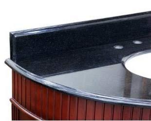 Bellaterra Home 603215-BACKSPLASH-62BG Backsplash, Black Galaxy, - Inch Vanity 62