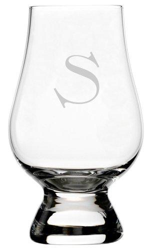 - Celtic Etched Monogram Glencairn Crystal Whisky Glass (Letter S)