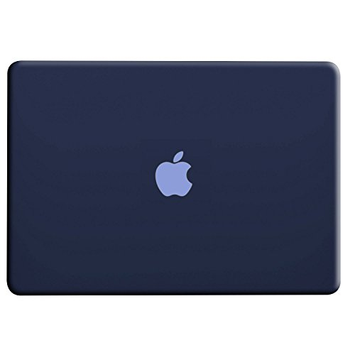 MacBook Air 13 inch Case, UESWILL Smooth Soft-Touch Matte Hard Shell Case Cover for MacBook Air 13'' (Model: A1466/A1369) + Microfibre Cleaning Cloth, Navy Blue by UESWILL (Image #1)