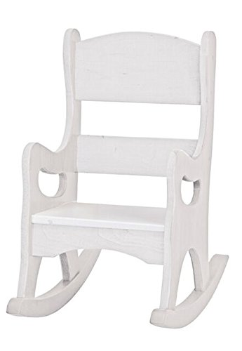 Toddler Rocking Chair Handmade In The USA Maple Wood Rocker (White)