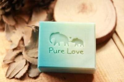 Amazon.com: Salemi Mother and Child Elephant Handmade soap Pattern Mini DIY soap Stamp chaprter Seal 43cm