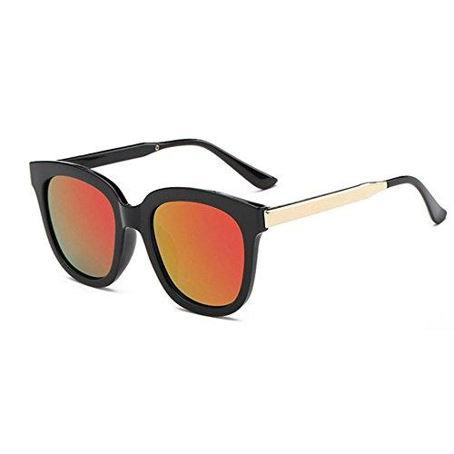 Aoligei Tendance de mode européenne de lunettes de soleil ronde frame lunettes de soleil fashion color film lunettes X8WEiGi6e
