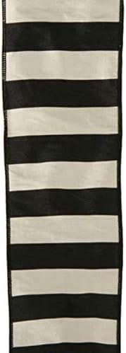 Amazon Com Black And Medium Dark Gray Striped Wired Ribbon 4 Inch Wide X 10 Yards