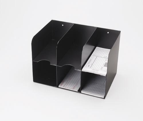 3 On 3 Double-Tier Check Separator - 6 Pocket Black (Separator Check Mmf)