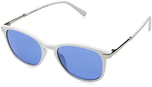 A.J. Morgan Davis Rectangular Sunglasses, White/Blue, 51 mm