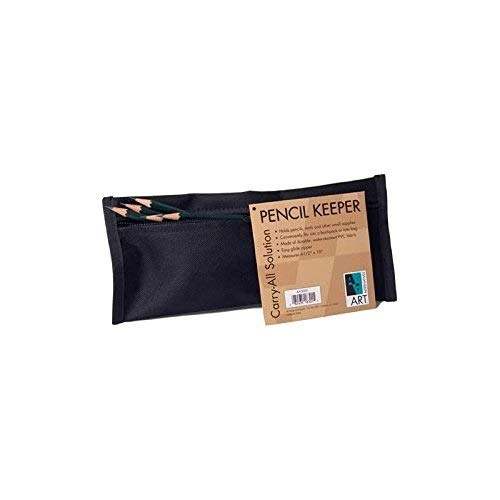 Pencil Pouch Black 4.5 X 10 in