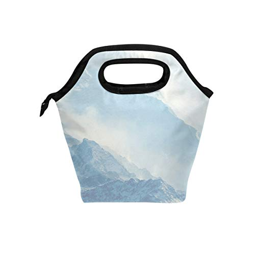 - Blizzard Snow Hill Lunch Bag Reusable Tote Bag Insulated Lunch Box For Boys, Girls, Kids, Adults, Office, School