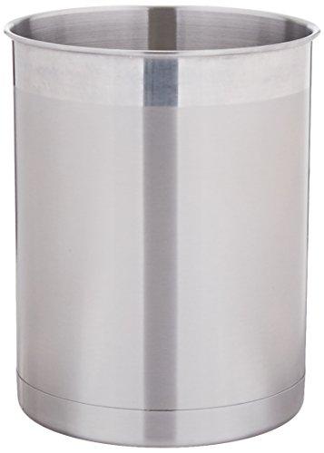 Oggi 7059 Stainless Steel Utensil Holder, Small (Brushed Stainless Utensil Holder)