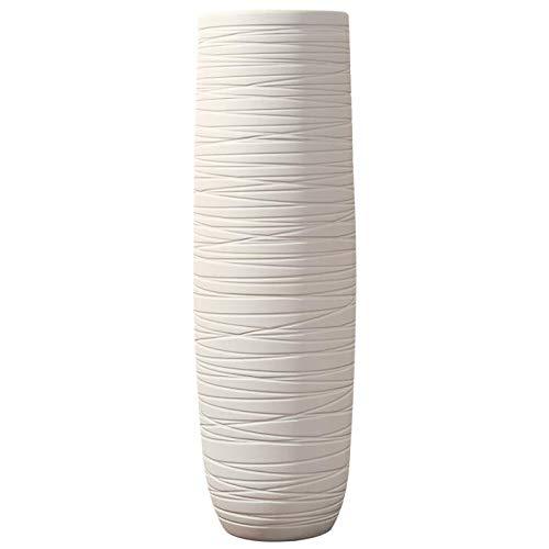 フロア立てセラミック大きな花瓶ホームリビングルームの生産セラミック大きな花瓶ホワイトキャリバー22CM高い80CMセラミック大きな花瓶 B07MFX8XSF