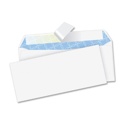 (Quality Park Cirrus #10 Envelope, Treated, Light Weight Tyvek, Security Tinted, Redi-Strip Closure, 100/BX)
