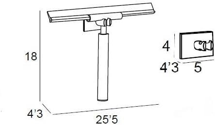 Manillons Torrent Limpia MAMPARA Adhesiva - Cromo   Modelo 6353 Accesorio para Cuarto de baño: Amazon.es: Hogar
