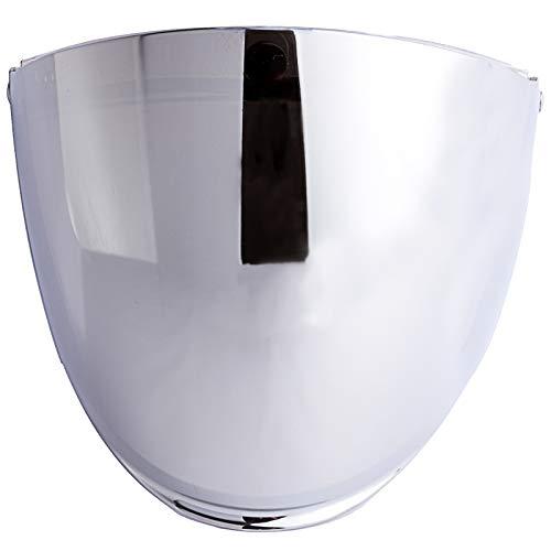 - Flip Shield Visor for 3-Snap Motorcycle Half Open Face Helmets (Chrome Mirror)