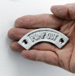 Bright Chrome Pump Out Arched Narrow Boat Sign