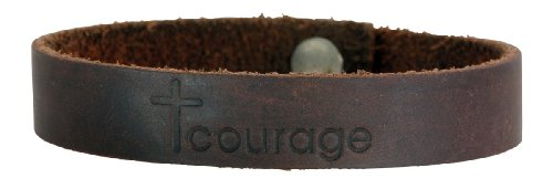 Faithforward Brown Courage Leather Bracelet product image