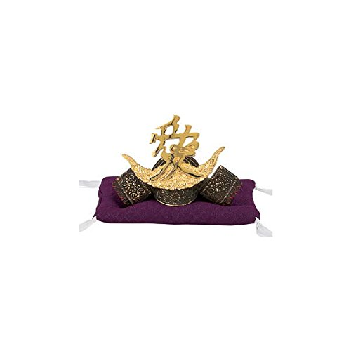 Tokyo Art Gallery ISHIHARA Japanese Samurai Kabuto Helmet - Naoe Kanetsugu (Love) - with Cushion, Box - Japan Import [Standard Ship by EMS with Tracking Number & Insurance]
