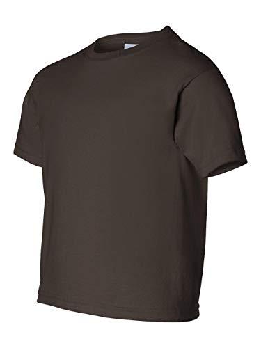 Gildan Youth Short Sleeve T in Dark Chocolate - Medium (10/12)