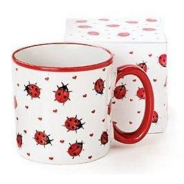 Adorable Ladybug Coffee Mug/Cup With Gift Box Inexpensive Gift Item For Ladybug Lovers