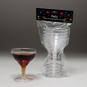 Plastic Champagne Glasses - 3 Pack (Pack Of 48) from D&D