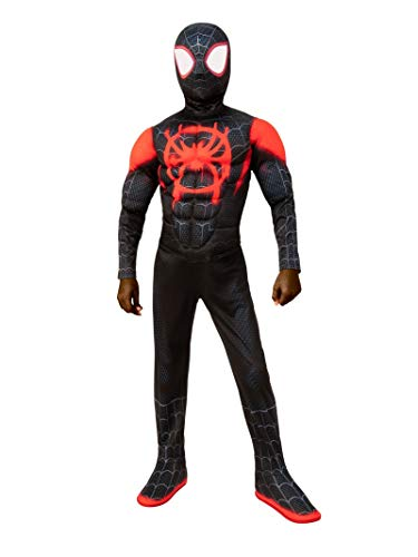 Spiderman Costume Children (Spider-Man: Into The Spider-Verse Child's Deluxe Mile Morales Spider-Man Costume,)