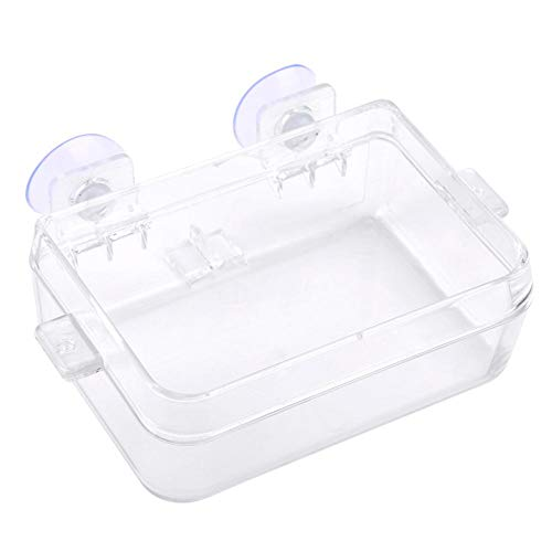- HEEPDD Reptile Feeder, Amphibians Reptiles Anti-Escape Feeder Transparent Worm Feeding Basin with Suction Cup for Gecko Snakes Chameleon Iguana Lizard