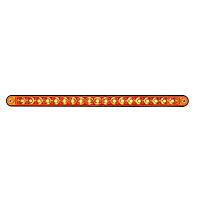 """United Pacific 36488 Black 12"""" 19 Reflector Light Bar with Housing Led/Amber Lens: Automotive"""