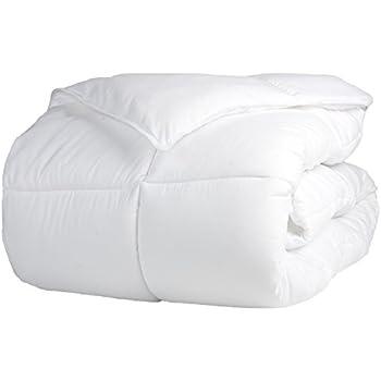 Superior Solid White Down Alternative Comforter, Duvet Insert, Medium Weight for All Season, Fluffy, Warm, Soft & Hypoallergenic - King Bed