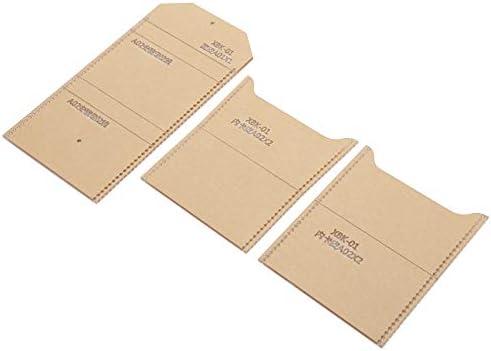 Antikras Transparante Portemonnee Acryl Sjabloon voor DIY Portemonnee Maken Lederen Hand Craft DIY Tool