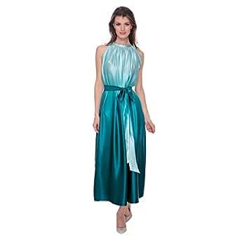 Cocum Ysabel Shaded Halter Dress For Women - 8 Uk, Shaded Blue