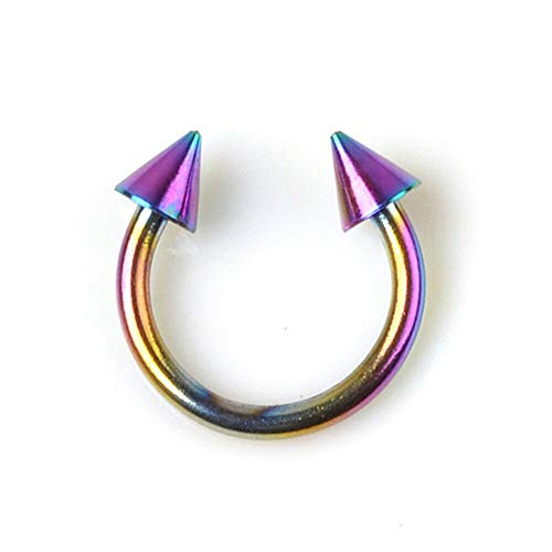 Septum Piercing Clicker Schild Nasenpiercing Universal Tragus Ohr Ring Kristall   ColorID - #044_5pcs