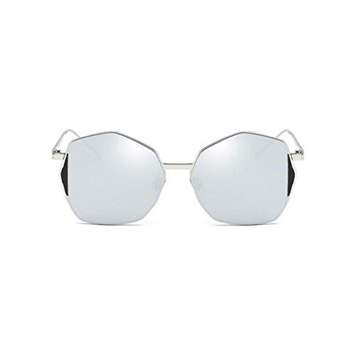 irregular sol espejo de forma de Plateado clásico Marco Winwintom estilo vintage Gafas con ySc4HqwA1