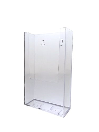 Dazzling Displays Clear Acrylic 4X9 Brochure Holder Countertop and Wall Mount Display