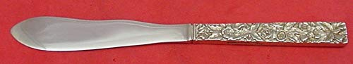 Repousse by Kirk Sterling Silver Cheese Spreader Pate Server 925/1000 5 1/2