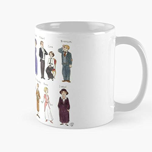 Best Gift Mugs Caricature Mug Coffee For Gifts Cup Women Tumbler Cups 11 15 Oz Best Personalized Gifts Downton Abbey Fanart Character Design Watercolours