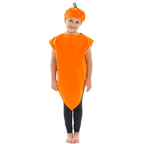 Charlie Crow Carrot Costume for Kids one Size fits All 3-8 Years Orange ()